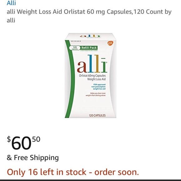2x Alli Orlistat 60 Mg Weight Loss Aid 120 Capsule Nwt